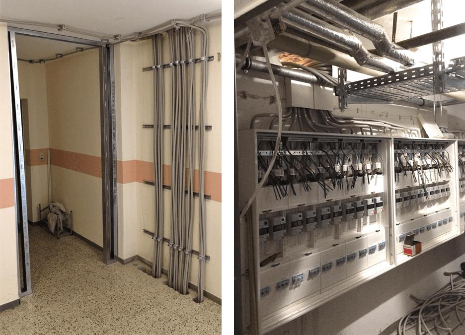 Umbaumaßnahme zur Verbesserung der Brandschutzsicherheit