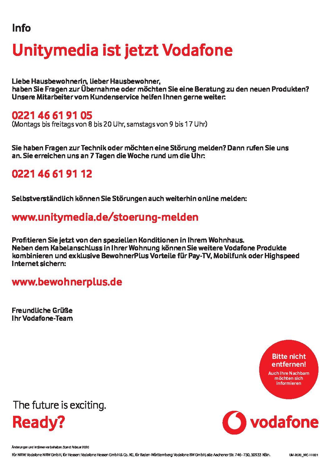 Info: Unitymedia ist jetzt Vodafone!
