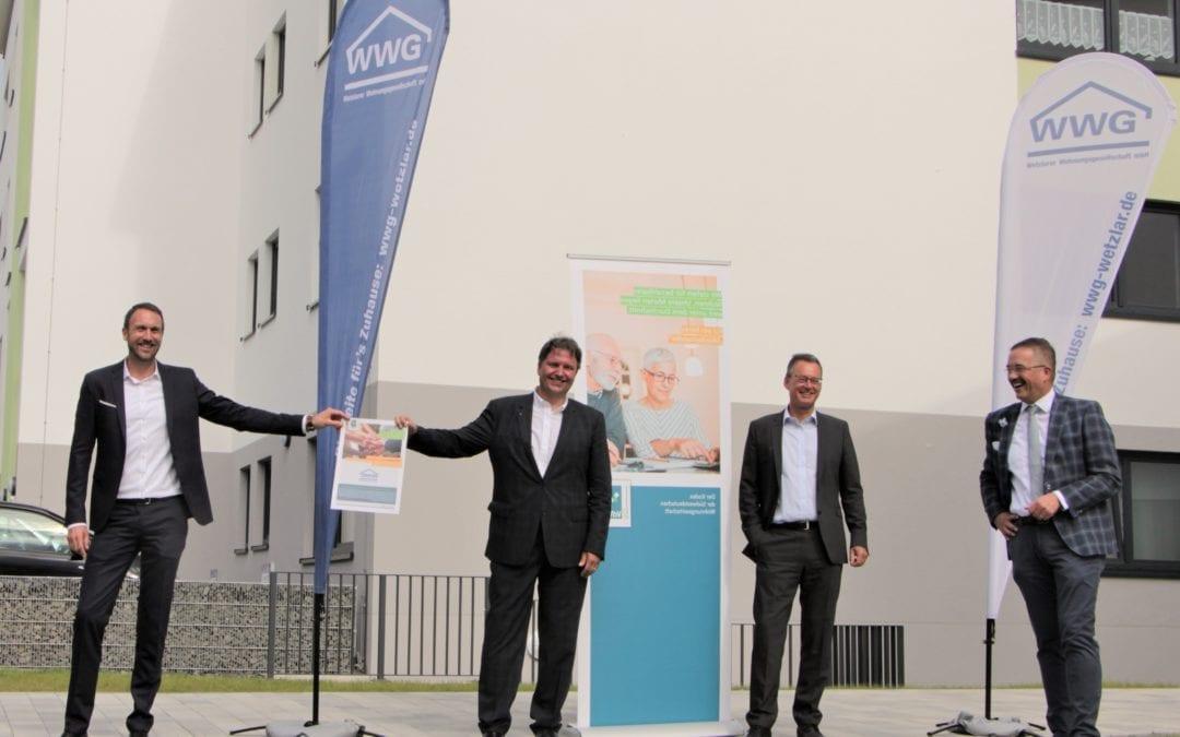 Bundesverband der Wohnungswirtschaft besichtigt Neubau am Schwalbengraben